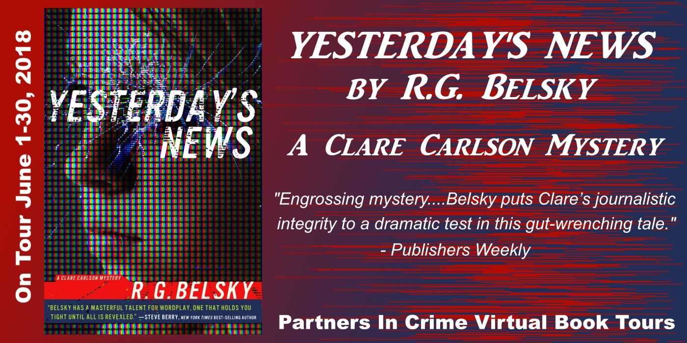 Yesterday's News by R.G. Belsky Tour Banner