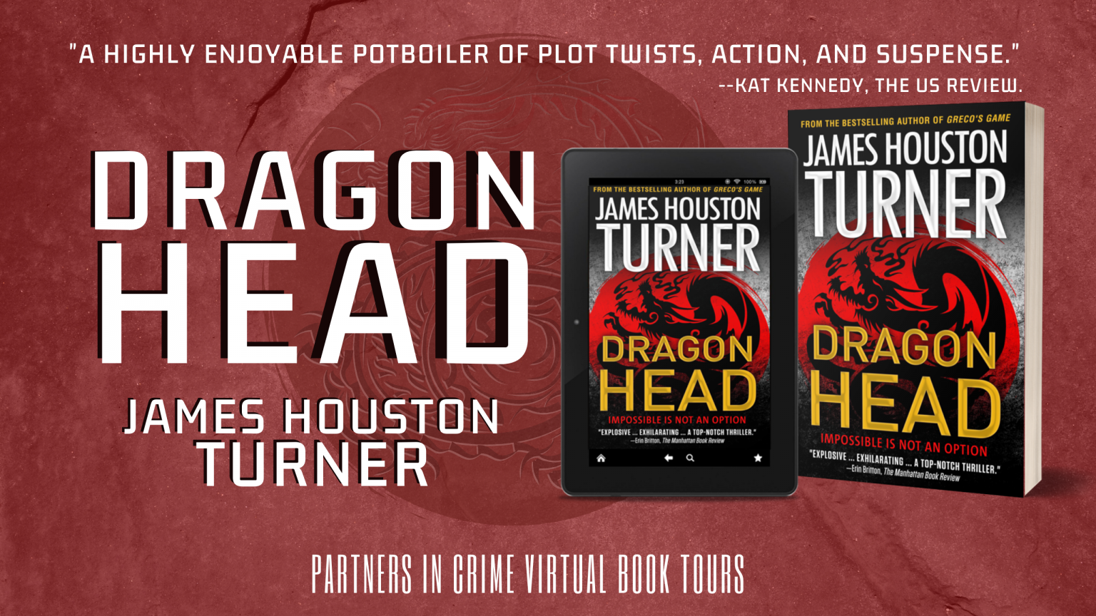 Dragon Head by James Houston Turner Banner