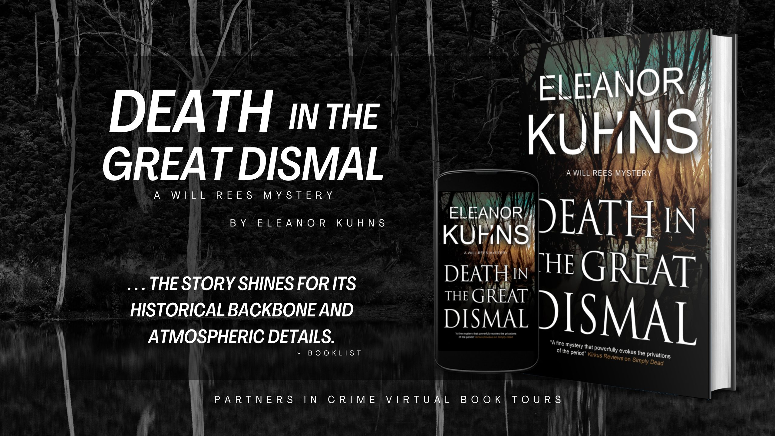 DEATH IN THE GREAT DISMAL by Eleanor Kuhns Tour Banner