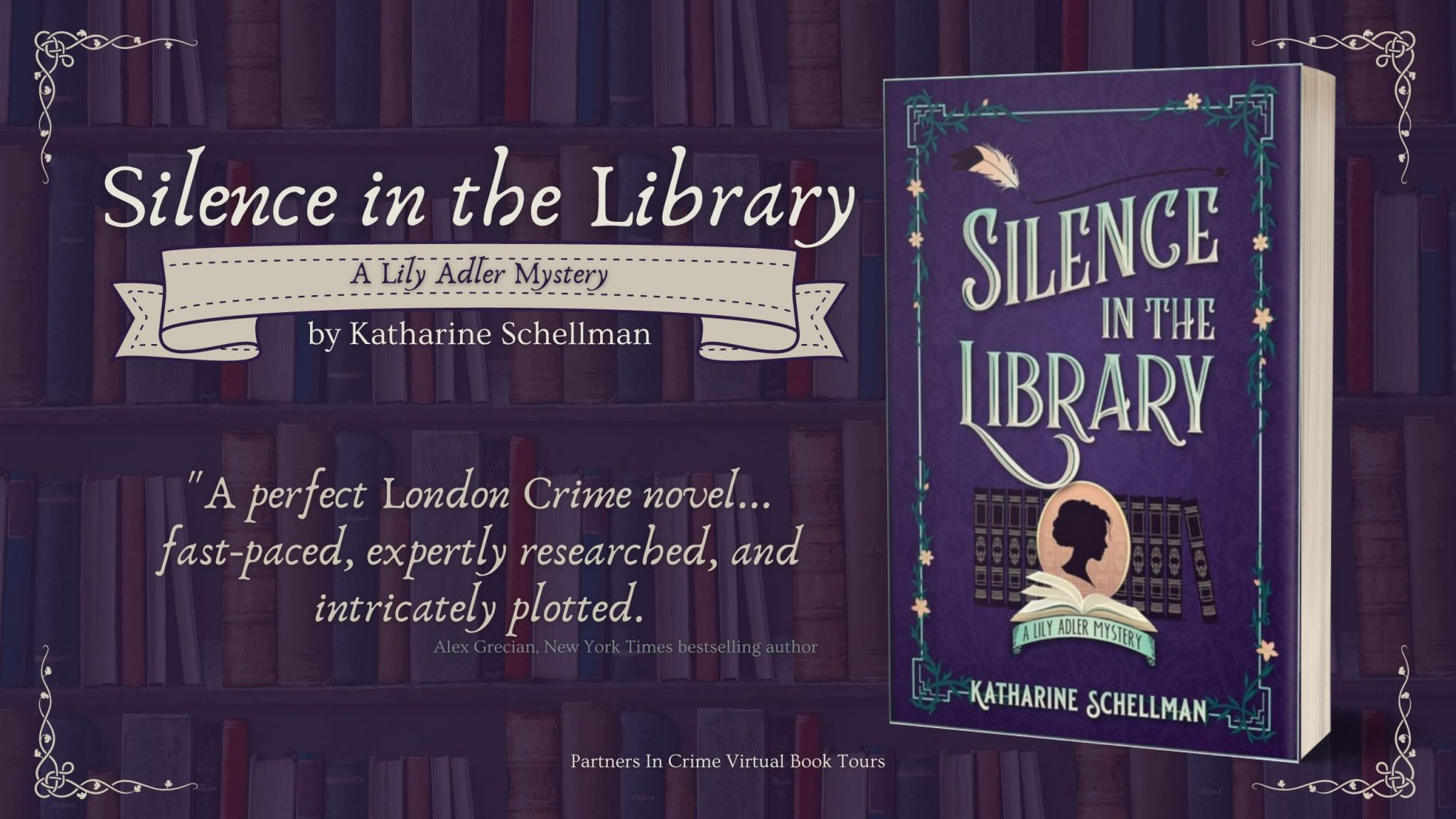 Silence in the Library by Katharine Schellman Banner